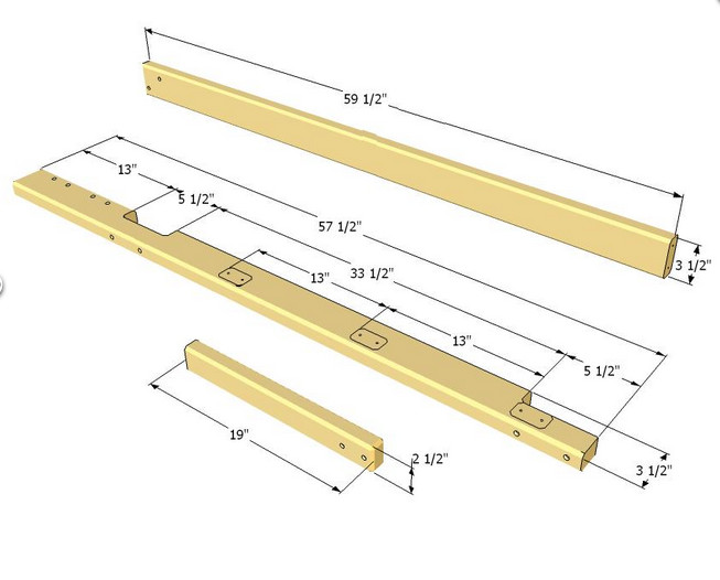 Планки для лесенки двухъярусной кровати