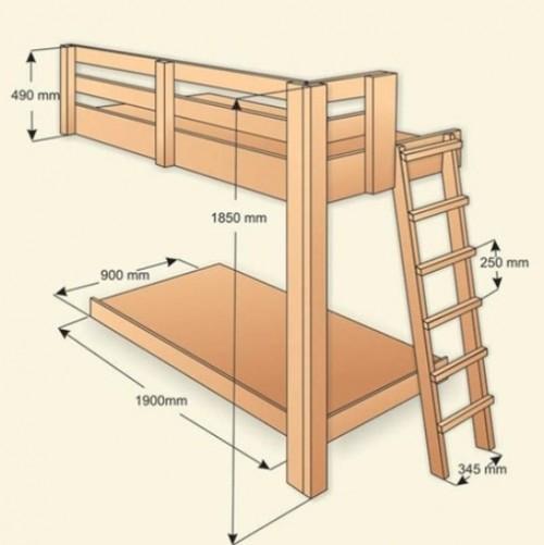 Схема каркаса кровати.