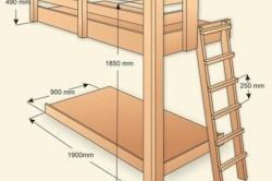 Cхема размеров каркаса кровати.