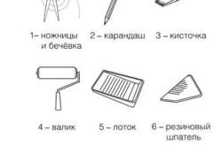 Инструменты для приклеивания обоев