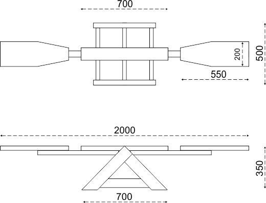 Схема деревянных качелей