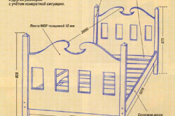 Схема кровати для детей 14-15 лет