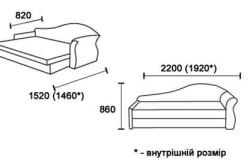Схема механизма трансформации и размеры