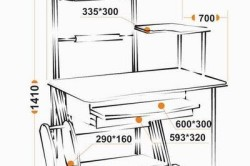 Схема многоярусного компьютерного стола