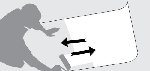 Схема нанесения клея на обои