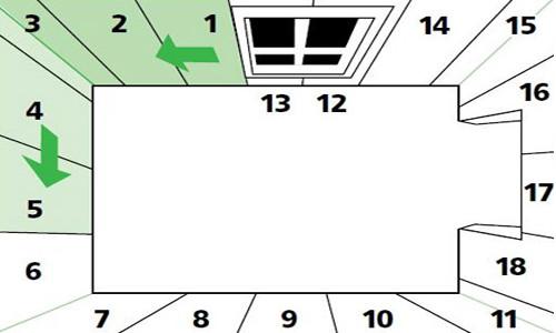 Схема порядка поклейки обоев