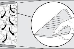 Схема разглаживания обоев резиновым шпателем