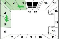 Схема рекомендуемого порядка поклейки обоев в комнате