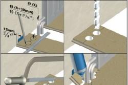 Схема укладки ламината у труб