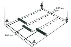 Схема укладки линолеума плитки