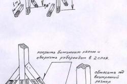 Схема установки деревянных качелей