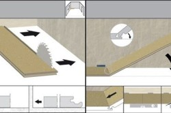Рисунок 3. Схема укладки ламината с Click-замками