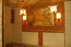 Бамбуковые обои на стенах