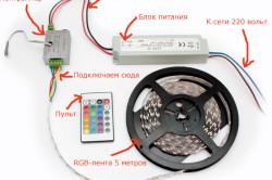 Схема подключения RGB-ленты
