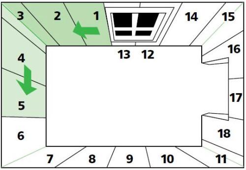 Схема поклейки обоев от окна