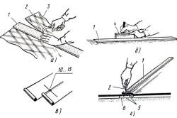 Раскрой и прирезка полотнищ линолеума