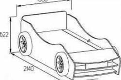 Схема размеров будущей кроватки