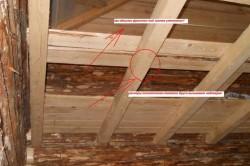 Пример деревянного каркаса на потолок