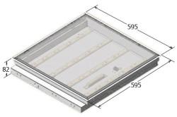 Типовой размер потолочной светодиодной панели