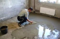Затирка бетонного пола вручную