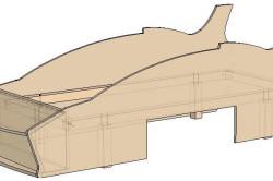 Схема каркаса кровати-машинки