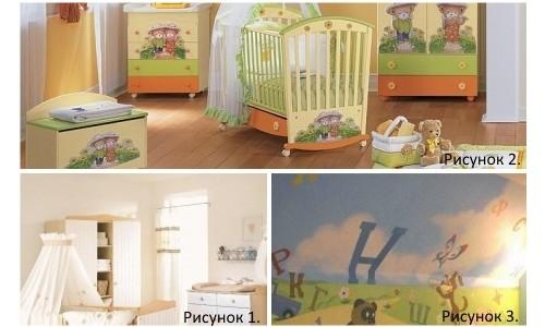 Варианты поклейки обоев в детской комнате