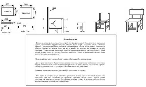 Инструкция по созданию детского стульчика