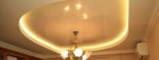 Установка светодиодной подсветки потолка своими руками