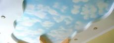 Фото потолки в детской комнате
