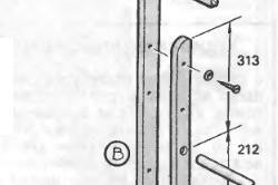 Схема конструкции лестницы для кровати