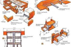 Схема сборки кровати с ящиками