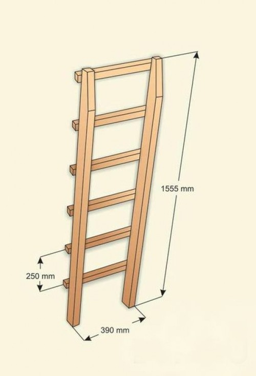 Выдвижные лестницы своими руками