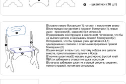 Схема сборки стульчика для кормления.