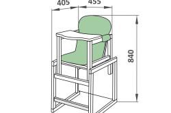 Схема детского стульчика.
