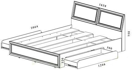 Чертежи двуспальной кровати своими руками с выдвижными