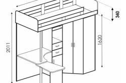 Вариант 4 схемы кровати-чердака