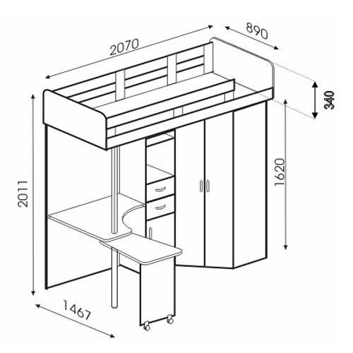 4 схемы кровати-чердака