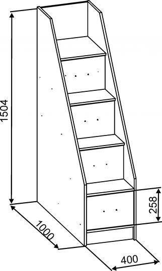 Схема-пример размеров лестницы