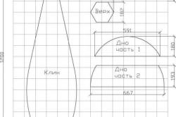Схема выкройки кресла-груши