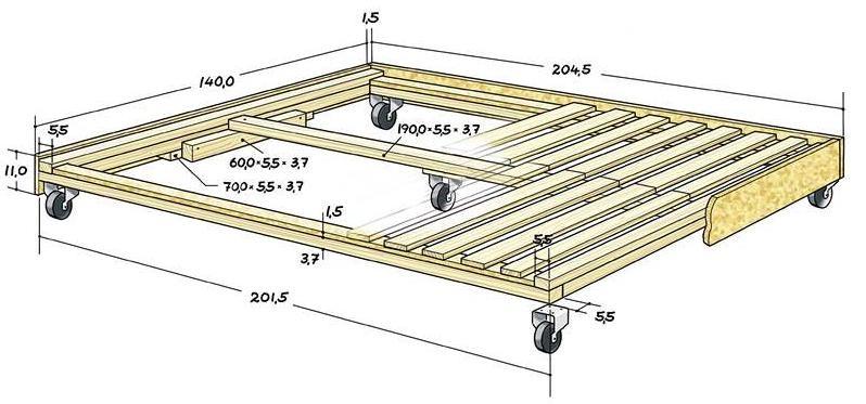 Как сделать выдвижную кровать подиум своими руками