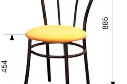 Схема гнутого стула из фанеры