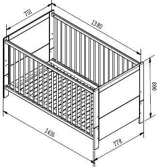 Кровать новорожденного своими руками 2