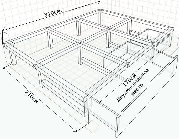 Подиум кровать своими руками чертежи