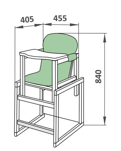 Схема стульчика для кормления
