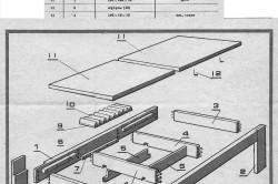 Схема изготовления шахматного столика