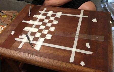 Как своими руками сделать шахматную доску своими руками