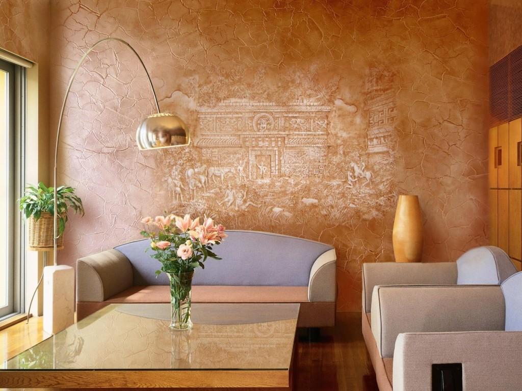 Декоративное покрытия стен своими руками 86