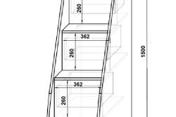 Схема изготовления лестницы для кровати чердака