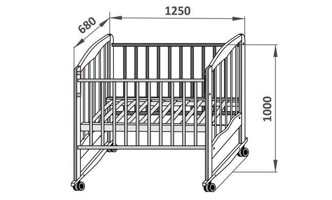 Схема детской кроватки с