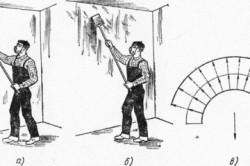Схема очистки стены
